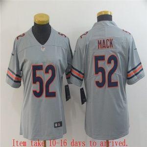 Women Bears #52 Khalil Mack Jersey Inverted